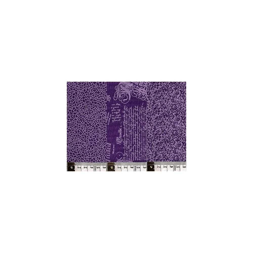 patchwork stoff lila violett mit drei muster 160cm breit taschen zubeh r clip clutch gmbh. Black Bedroom Furniture Sets. Home Design Ideas