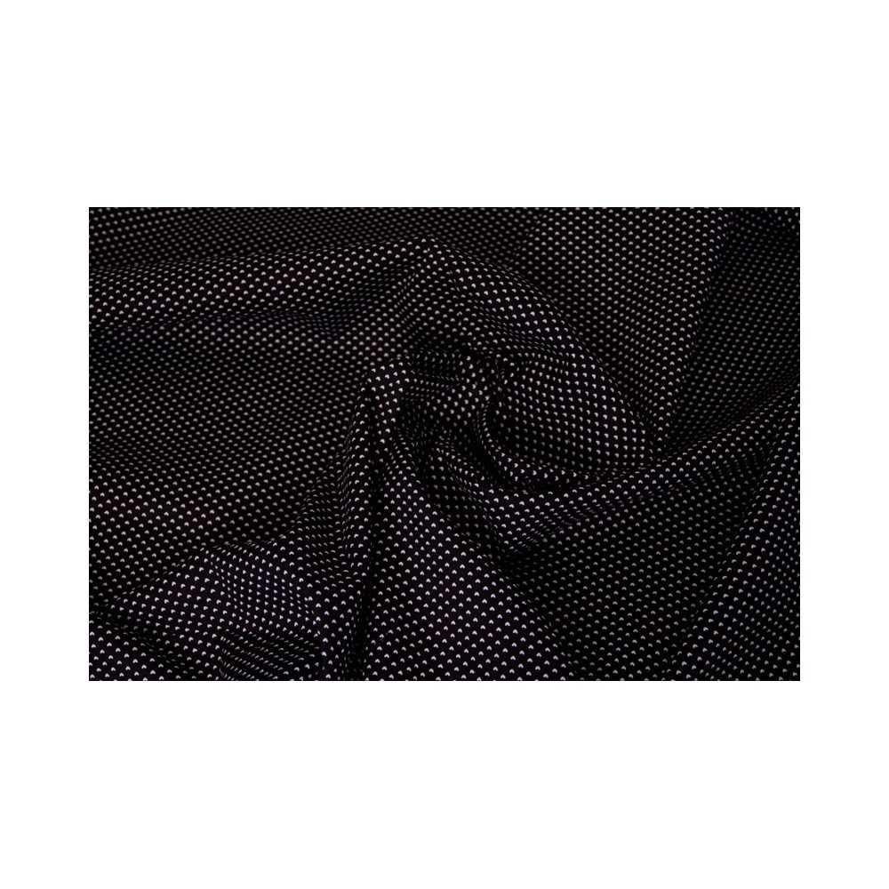 schwarzer baumwollstoff mit herzchenmuster klassisch elegant. Black Bedroom Furniture Sets. Home Design Ideas