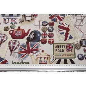 Canvas Stoff Very British - Stoff für Taschen und Rucksäcke