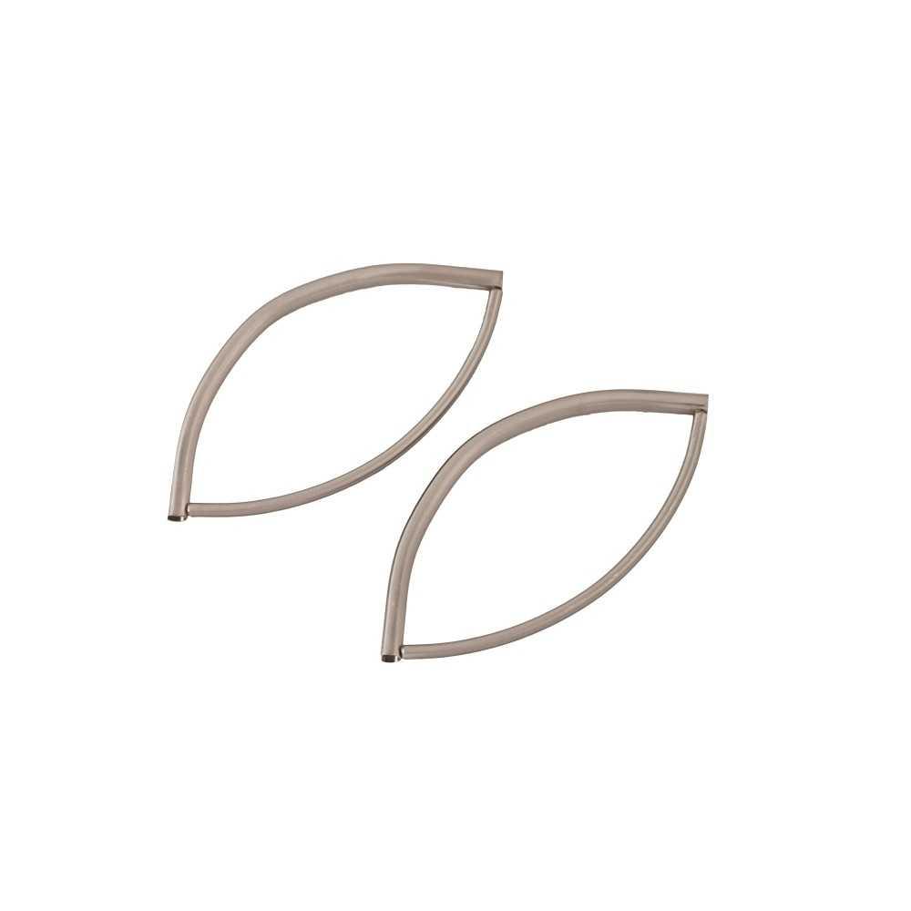 2 Taschengriffe Oval nickel-mattiert
