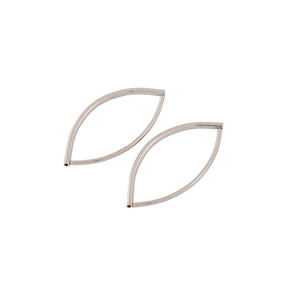2 Taschengriffe Oval nickel-glänzend