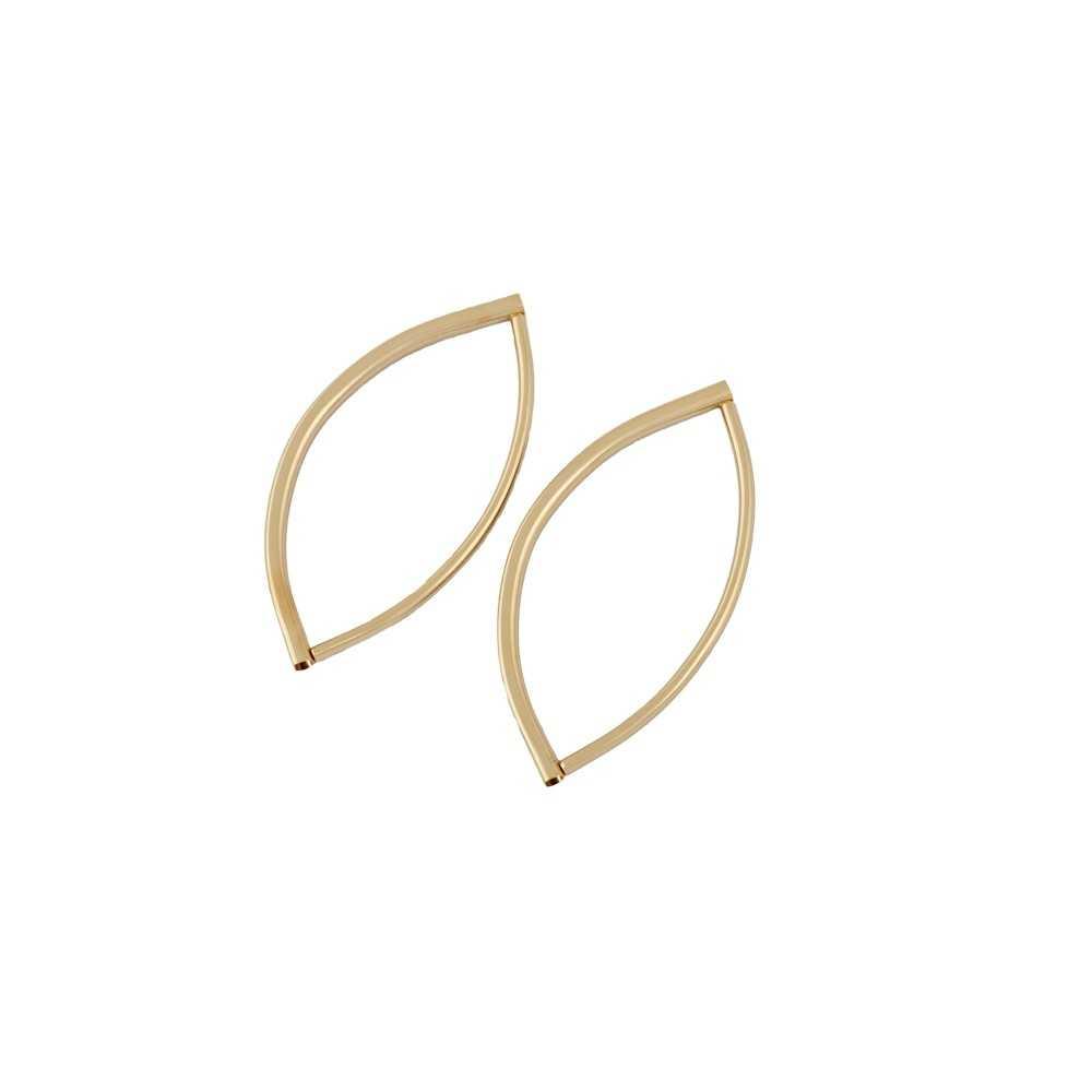 2 Taschengriffe Oval gold (18K)