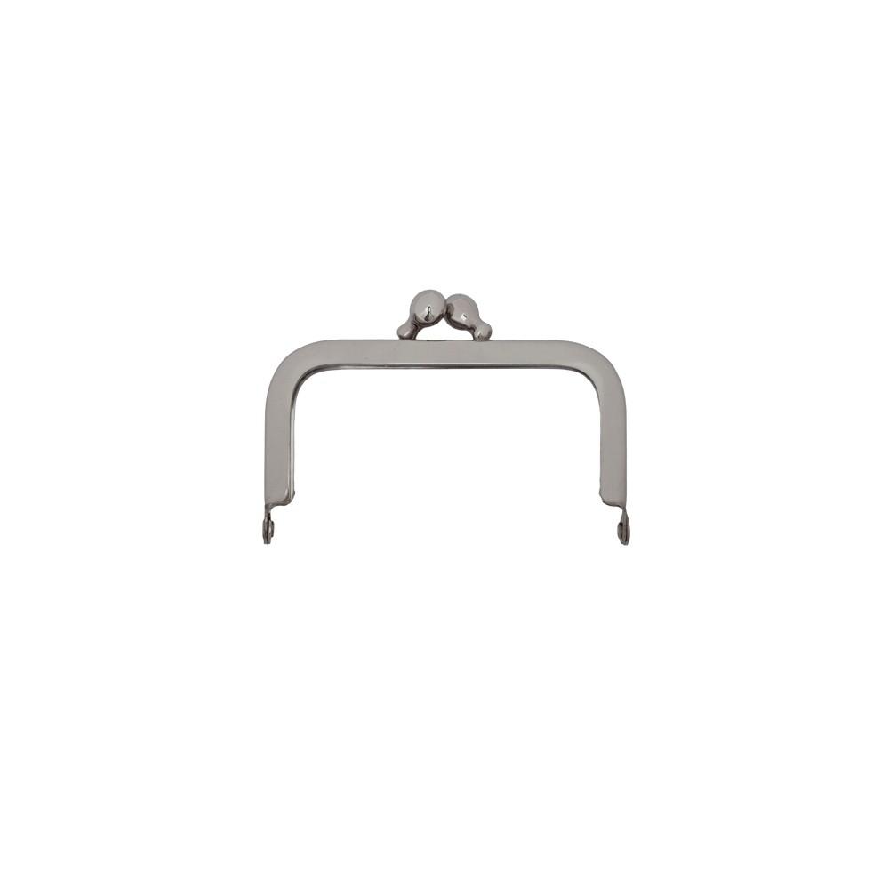 Taschenbügel 086/A4 6x6cm nickel-glänzend