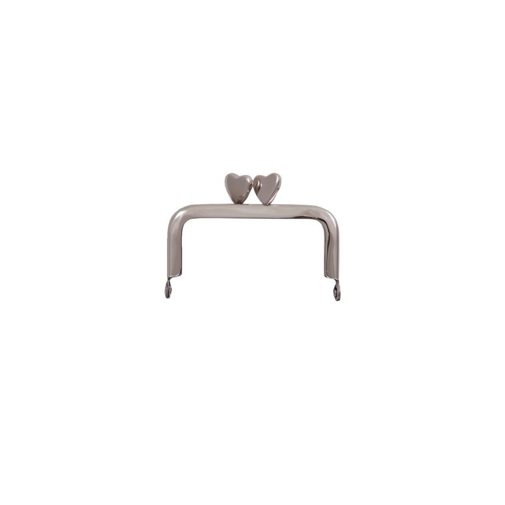 Herz/A4 6x6cm nickel-glänzend