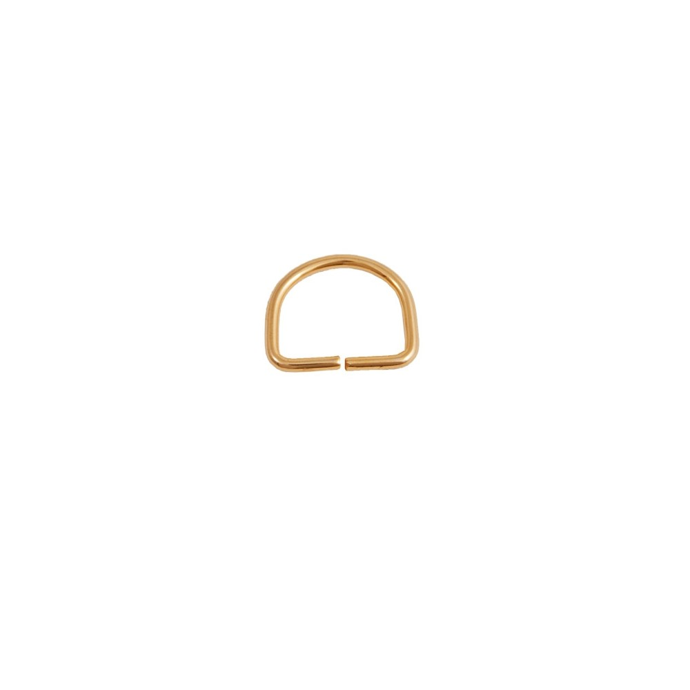 D-Ring 30 mm x  20 mm Gold