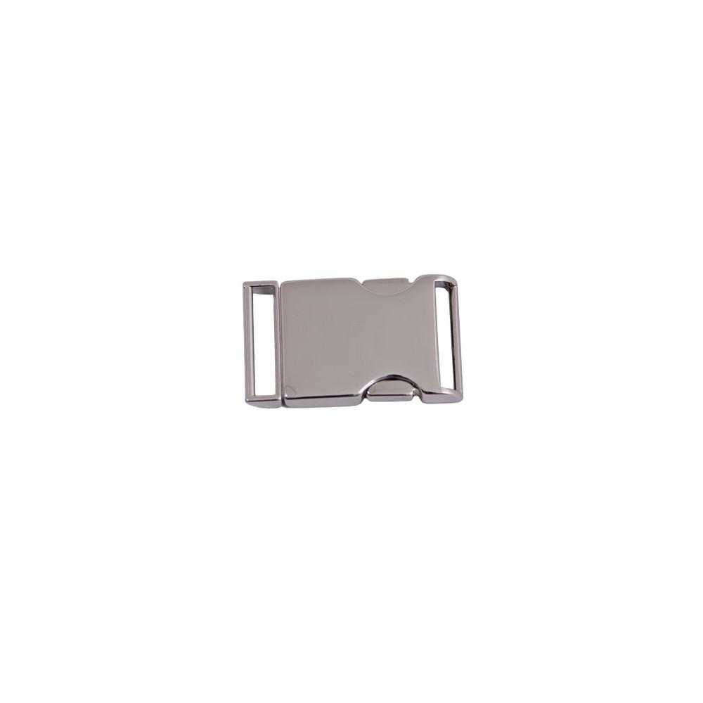 Gürtelschnalle 56 mm x 34 mm Nickel