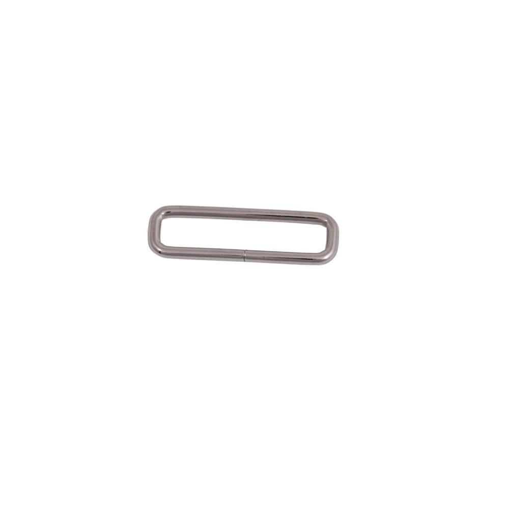 Schnalle 58 mm x 18 mm Nickel