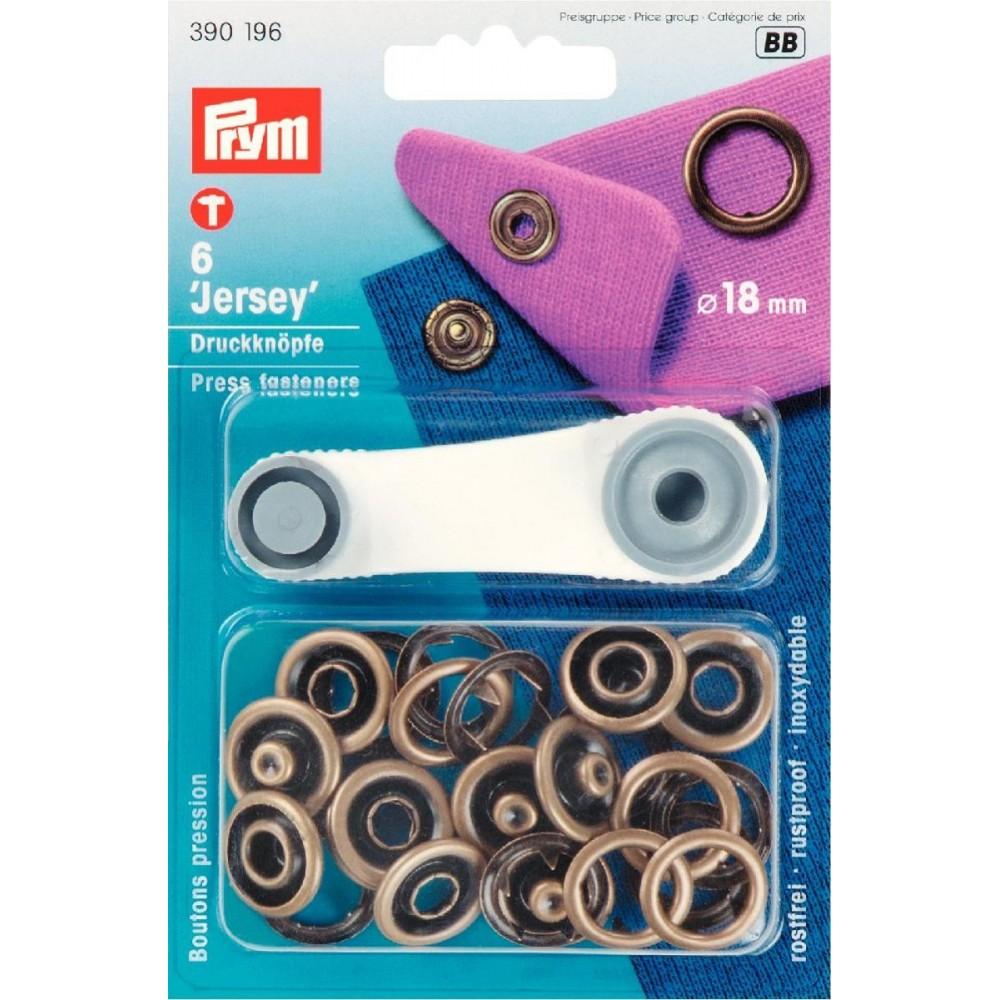 Druckknöpfe für Jersey 18 mm