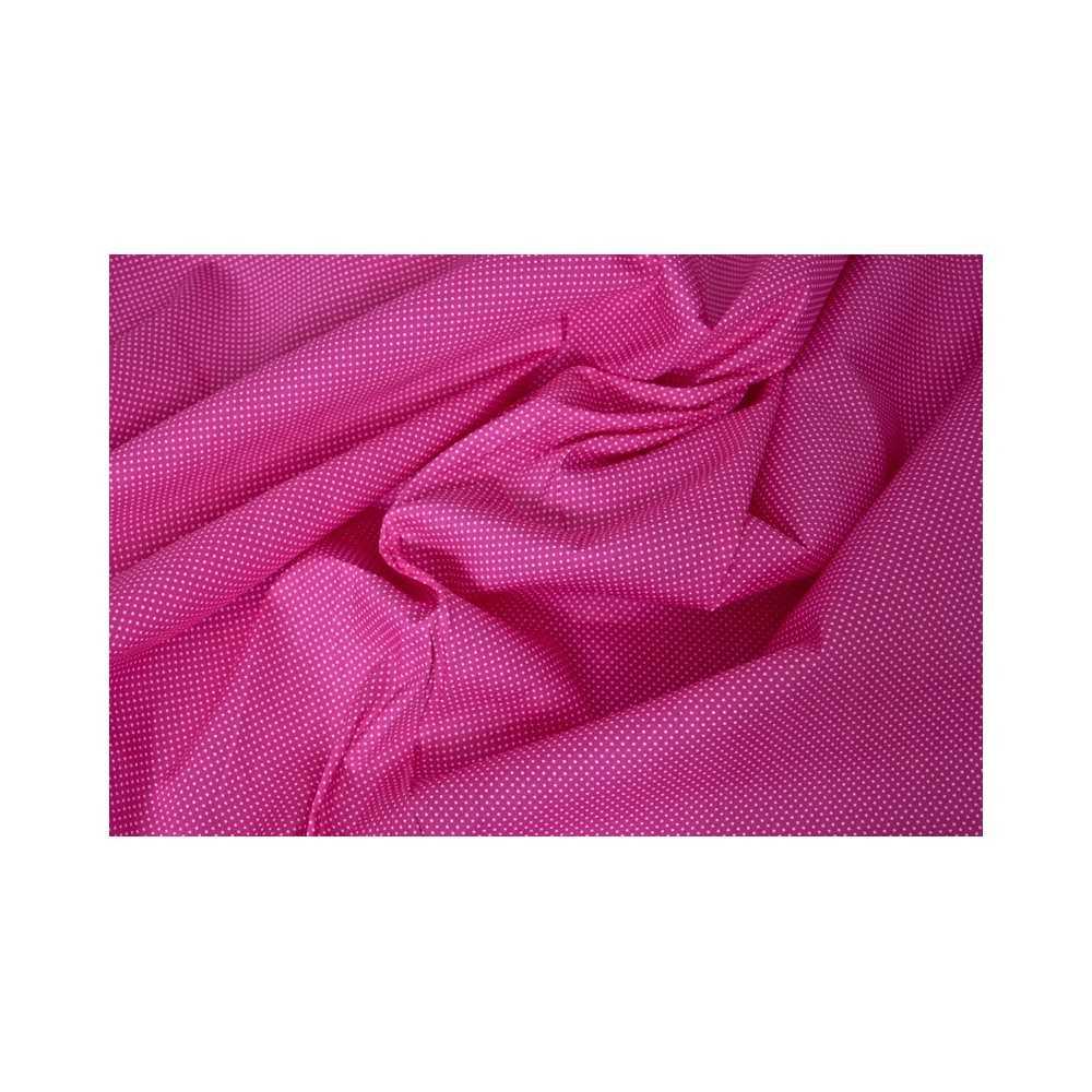 Bedruckter Stoff – Pink mit Pünktchen