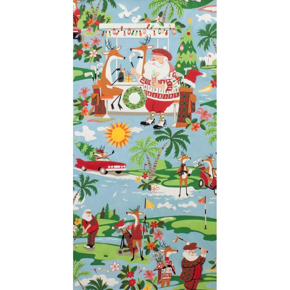 Baumwollstoff Alexander Henry Holiday Hole-in-One Weihnachtsstoff