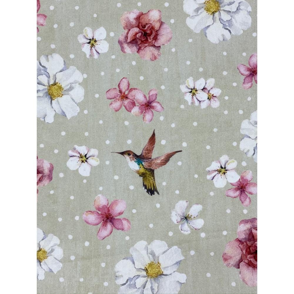 Dekostoff Blume Kolibri