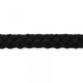 Kordel schwarz 8mm Baumwolle