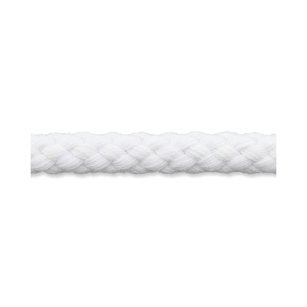 Kordel weiß 8mm Baumwolle