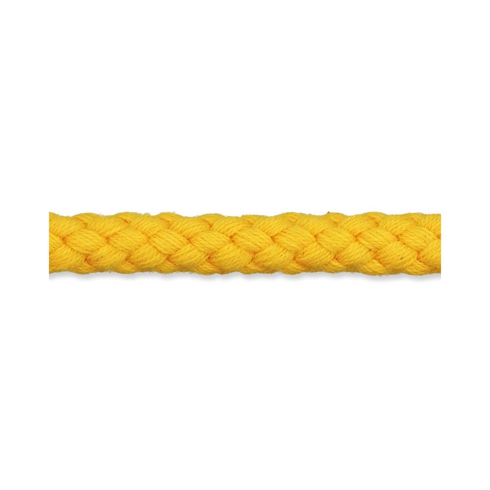 Kordel gelb 8mm Baumwolle