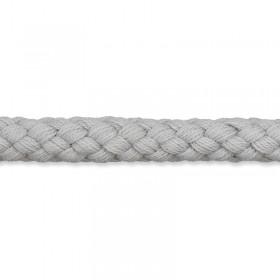Kordel hellgrau 8mm Baumwolle