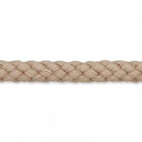 Kordel hellbraun 8mm Baumwolle