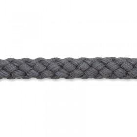 Kordel dunkelgrau 8mm Baumwolle