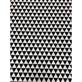 Dekostoff Kokka Dreiecke schwarz weiß
