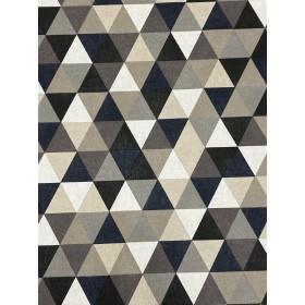 Dekostoff Muster Dreiecke schwarz weiss