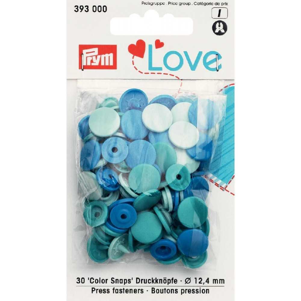 Druckknöpfe Color Snaps 12,4 mm in Mint Türkis Blau