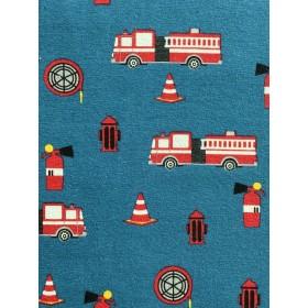 Jersey Feuerwehrautos blau rot
