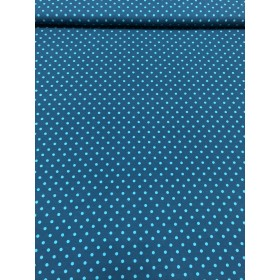 Jersey Punkte Muster blau