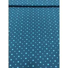 Jersey Sterne Muster blau