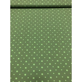 Jersey Sterne Muster grün