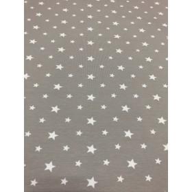Jersey Sterne Muster beige