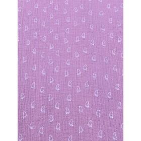 Musselin Fußabdruck rosa