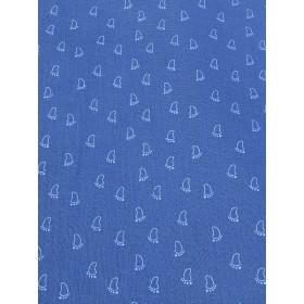 Musselin Fußabdruck blau