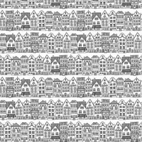 Dekostoff Häuser