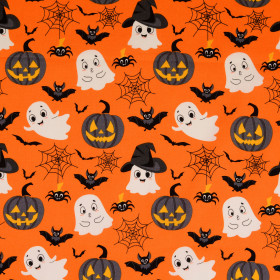 Baumwolle Halloween Orange