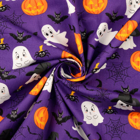 Baumwolle Halloween Lila