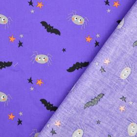 Baumwolle Halloween Spinne lila