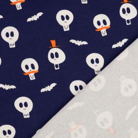 Jersey Halloween Schädel dunkelblau