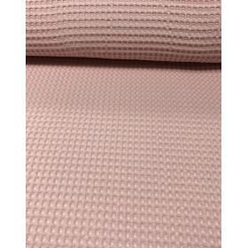 Waffelstoff groß rosa