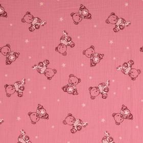 Musselin Bärchen rosa