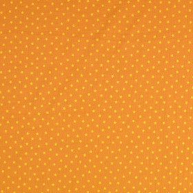 Musselin Sterne Senfgelb