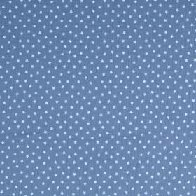 Musselin Sterne Blau