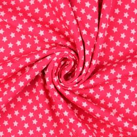 Sweatstoff Sterne pink