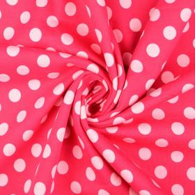 Sweatstoff Punkte pink