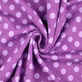 Sweatstoff Punkte lila