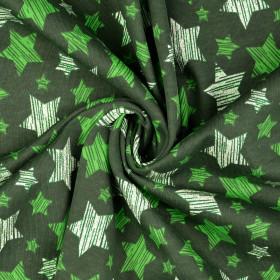 Sweatstoff Sterne Glitzer Grün