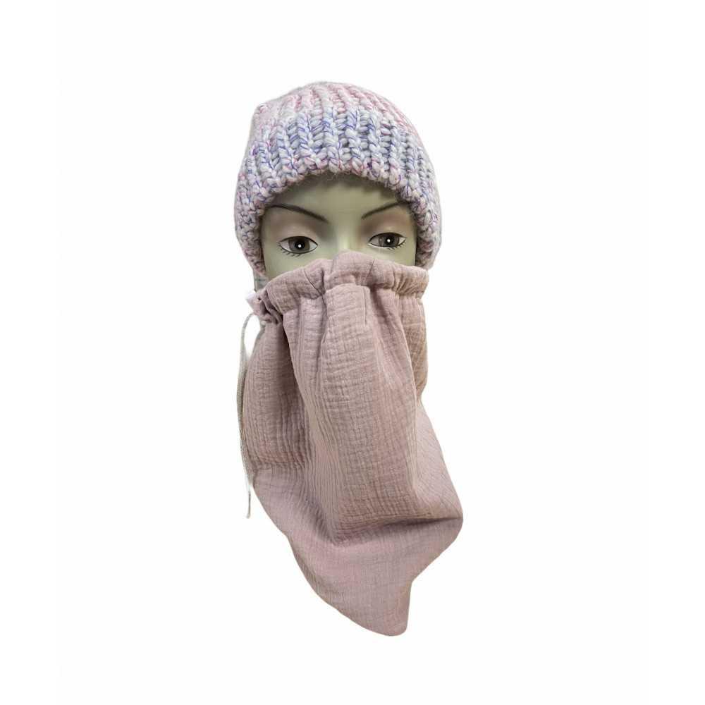 Loopschal Mund Nasen Bedeckung altrosa