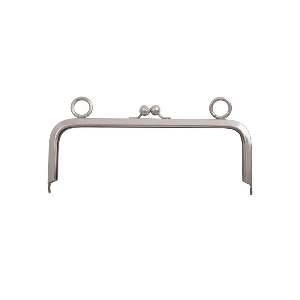Taschenbügel 012/4022 22 x 16 cm mit 24 mm Ringösen Nickel glänzend