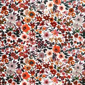 Jersey Blumen Rost