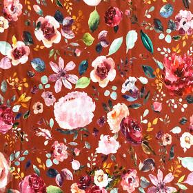 Jersey bunte Blumen ROST
