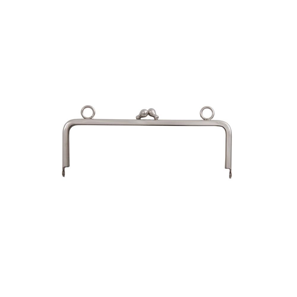 Taschenbügel 086/A4 14 x 9 cm mit 15 mm Ringöse Nickel glänzend