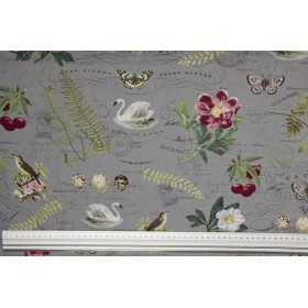 Blend Fabrics: Botanical Notebook Grey